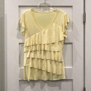 Tops - Yellow Ruffled Shirt